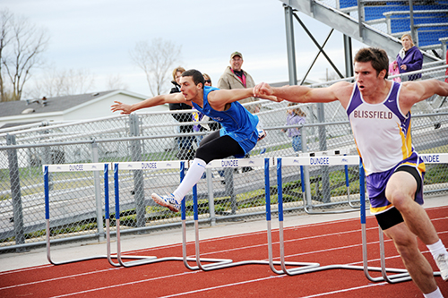 Dundee boys, girls track teams defeat Blissfield