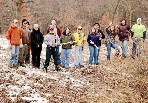 Volunteers work to restore habitat in Petersburg State Game Area