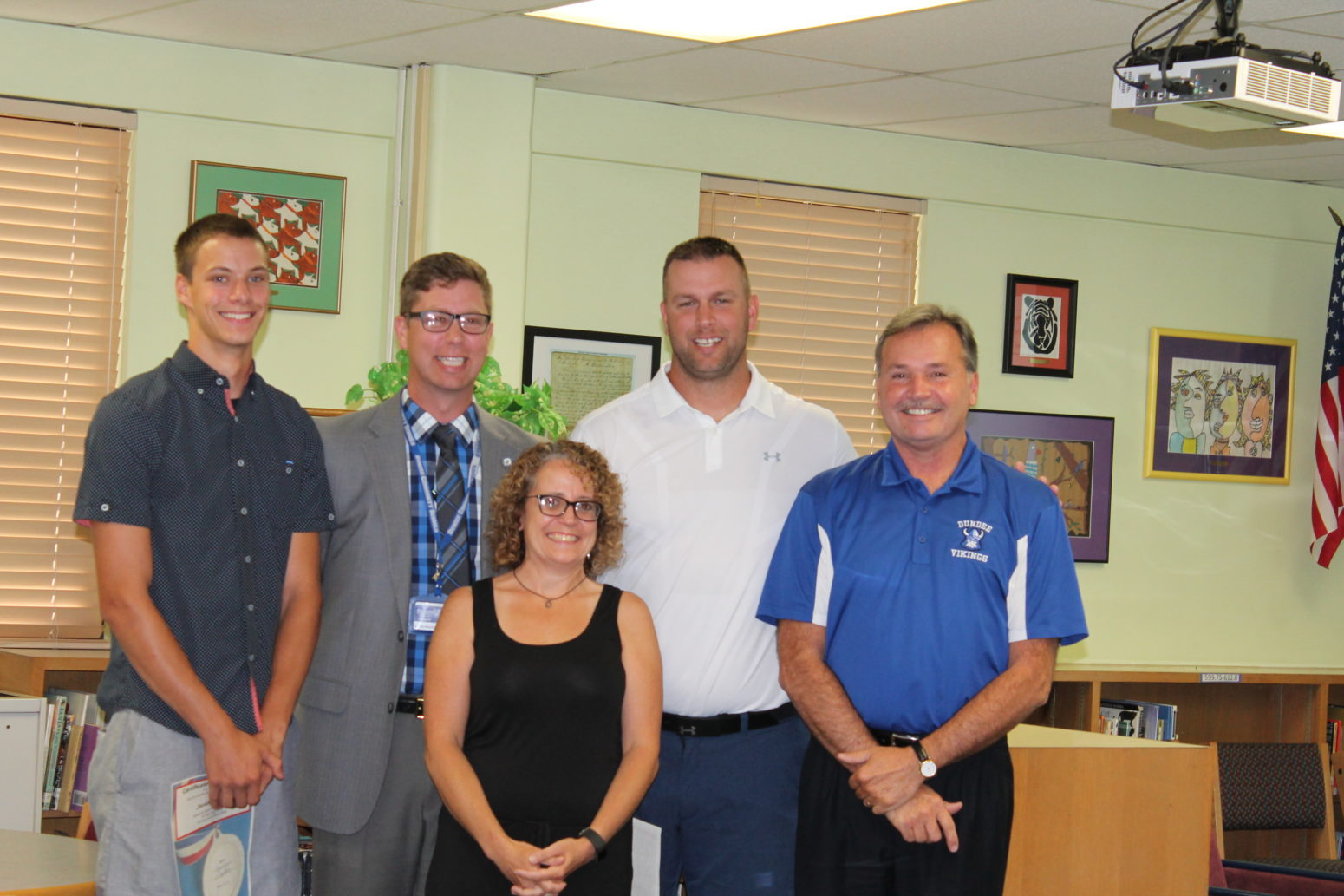 Dundee School board recognizes athletes