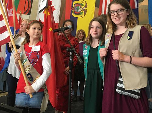 Dundee Girl Scouts attend International Women's Tea