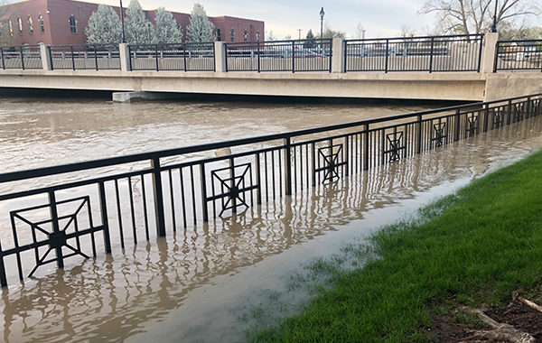 Wet weather leads to high levels on the River Raisin